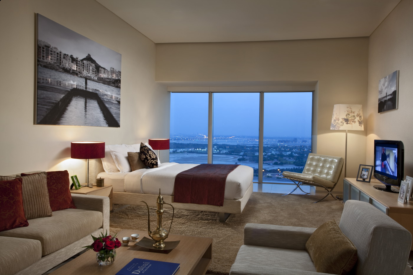 Apartment Master Bedroom With A View Luxury Apartments Dubai